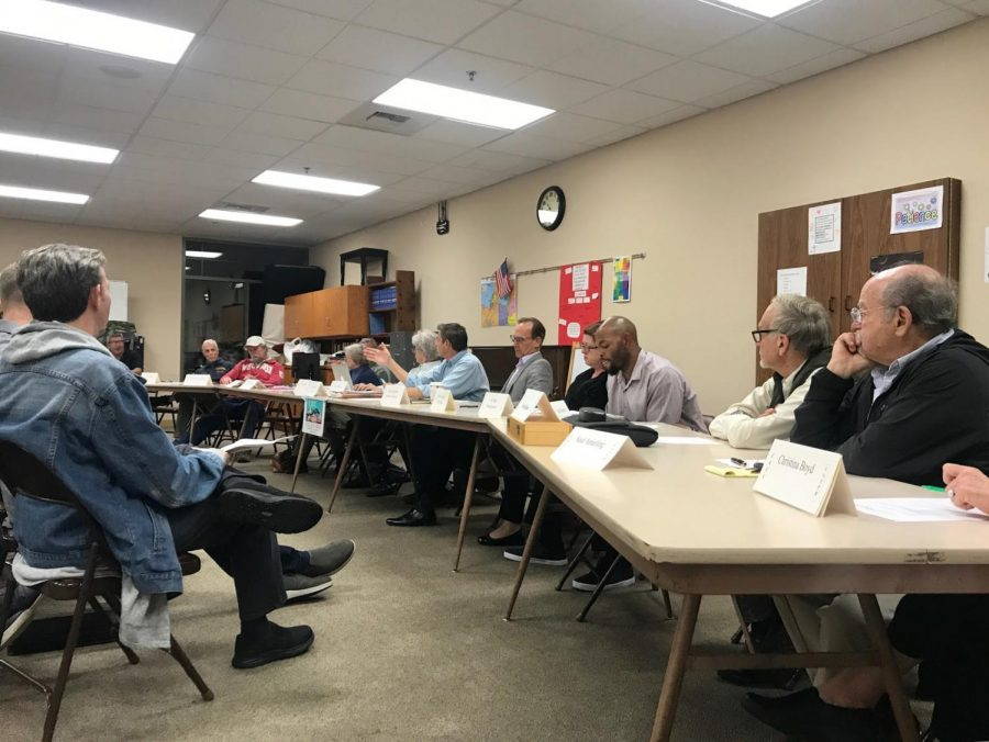 The College Area Community Council discusses their latest report at a meeting on Nov. 13.