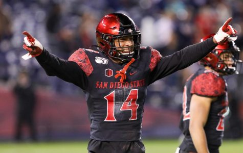Junior safety Tariq Thompson during San Diego State's 13–3 victory over BYU.
