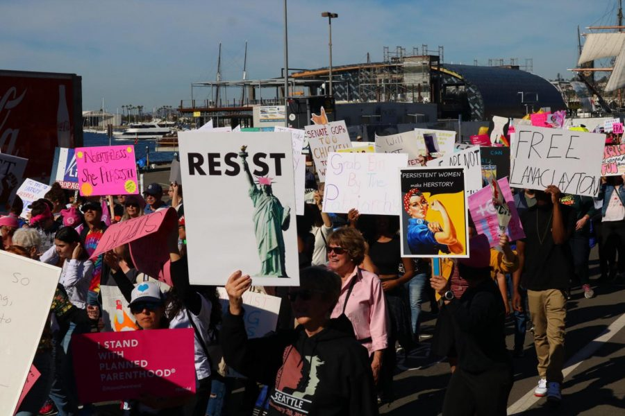 People across San Diego show up to the march, along with groups like Planned Parenthood and pro-reproductive and LGBTQIA+ rights organizations.