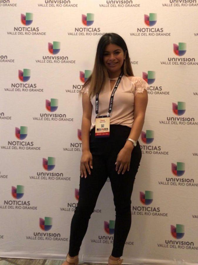 Diane López en la conferencia de National Association of Hispanic Journalists en San Antonio, Texas.