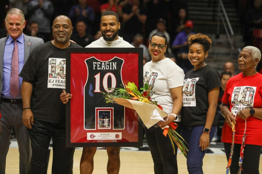 Feagin got to celebrate Senior Night with his family in attendance on Feb. 25 against Colorado State.