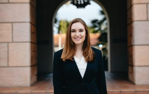 A.S. vice president of university affairs candidate Sophie Chance