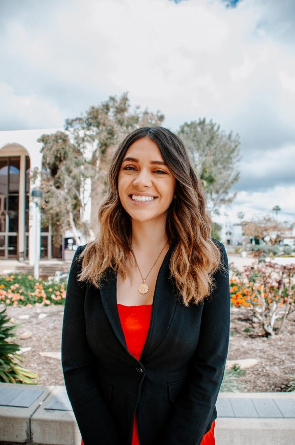 A.S. vice president of university affairs candidate Crystal Sanchez