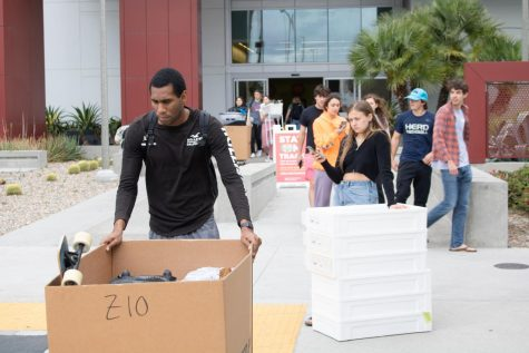 San Diego State freshmen move out of campus housing in mid-March amid the onset of the coronavirus pandemic.