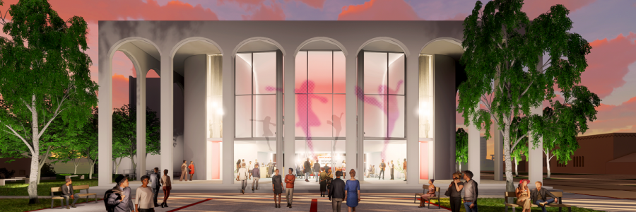 This is a rendering of what the new Don Powell Theater is expected to look like.