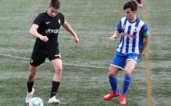 San Diego State men's soccer's new midfielder Iñigo Villaldea Eraña (left) played for Sporting de Gijón youth academy the past two seasons. Last year, he tallied nine goals and three assists.