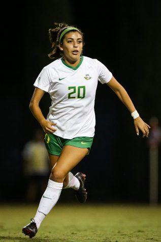 Sophomore defender Claire Watkins featured in 11 games for Oregon last season.