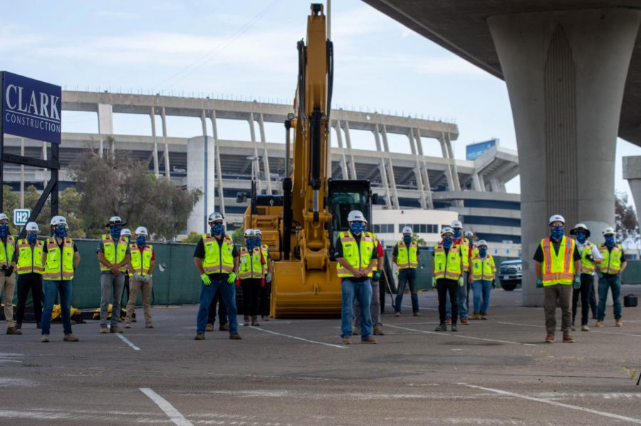 Clark Construction Group was awarded a $250 million contract for the development of SDSU Mission Valley and Aztec Stadium.
