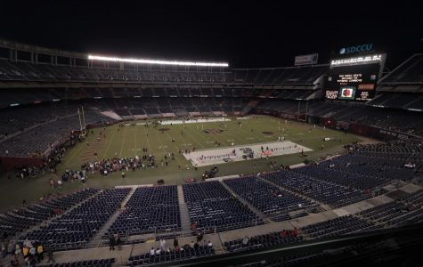 SDCCU Stadium pictured before SDSU took the field and defeated Wyoming by a score of 26-22 on Oct. 12, 2019.
