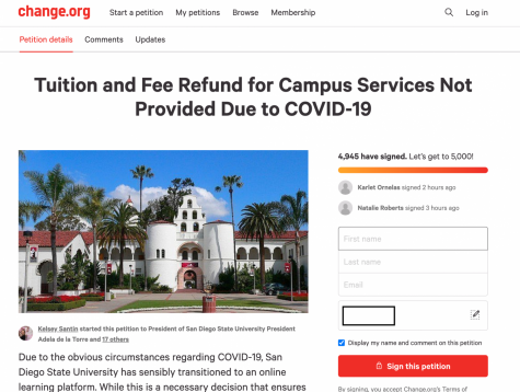 New SDSU petition demands tuition and fee refund due to COVID-19