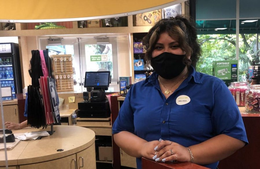 Melissa Ramirez has worked at The Roar Store at the San Diego Zoo for the past five years.