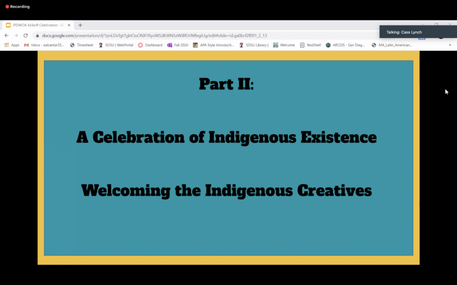 The Indigenous People's Day Kickoff Celebration was held as part of the Native Resource Center's