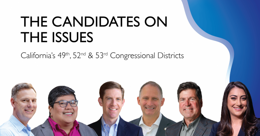 California's 49th, 52nd and 53rd Congressional Districts cover much of San Diego. The Daily Aztec sat down with the candidates to ask them about the issues college students care about most.