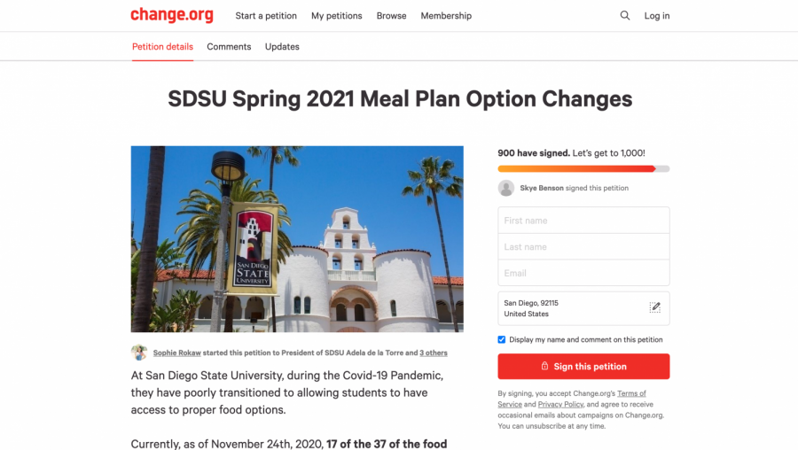 On-campus SDSU students express frustration with meal plan through petition