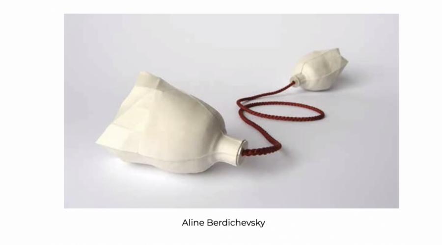 Lorena Lazard showcased a piece by Mexican artist Aline Berdichevsky called