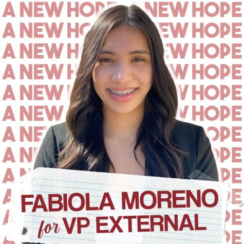 A.S. vice president of external relations candidate Fabiola Moreno