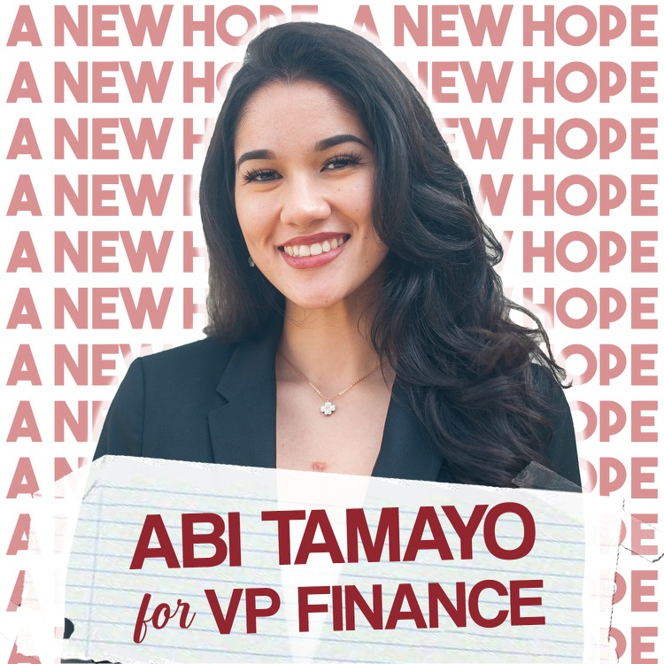 A.S. vice president of financial affairs candidate Abigail Tamayo