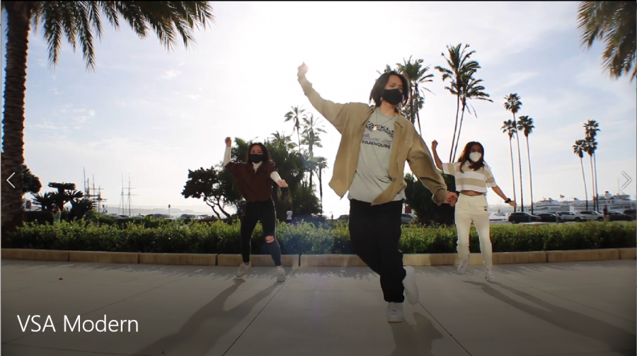 VSA's dance group, VSA Modern shot at multiple locations in San Diego to create the ultimate music video atmosphere for 2021 VCN.