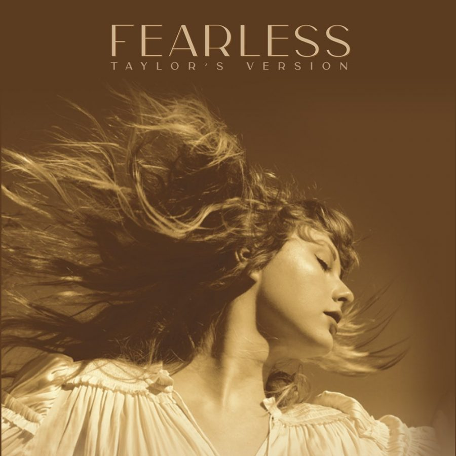The+album+cover+for+Taylor+Swifts+newest+re-release+of+her+second+studio+album+Fearless.