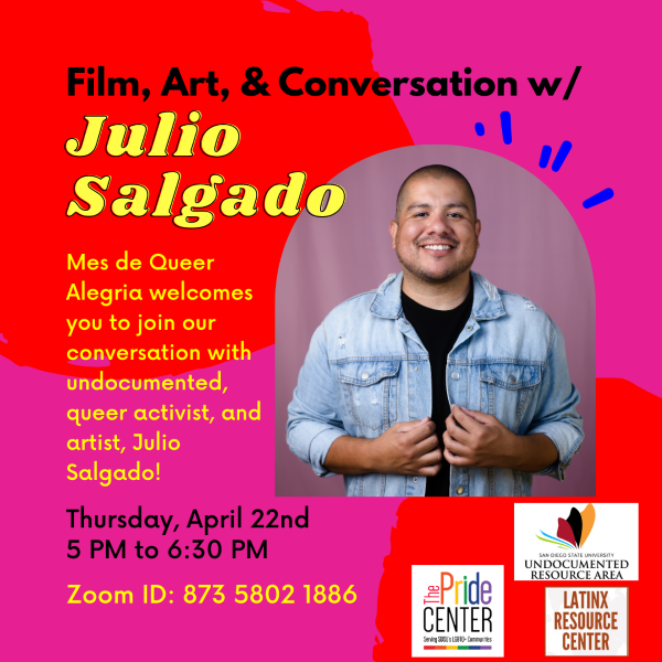 Queer activist Julio Salgado speaks at SDSU Pride Center event