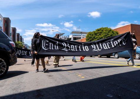 """En la marcha """"End Barrio Warfare"""""""