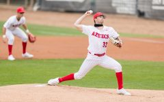 San Diego State baseball redshirt freshman pitcher Ricky Tibbett tosses a pitch during the 2021 season.