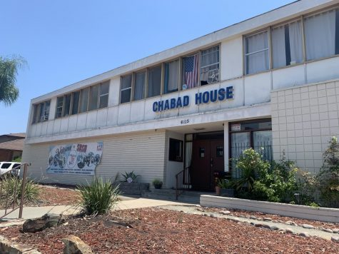 Outside the Chabad House near SDSU