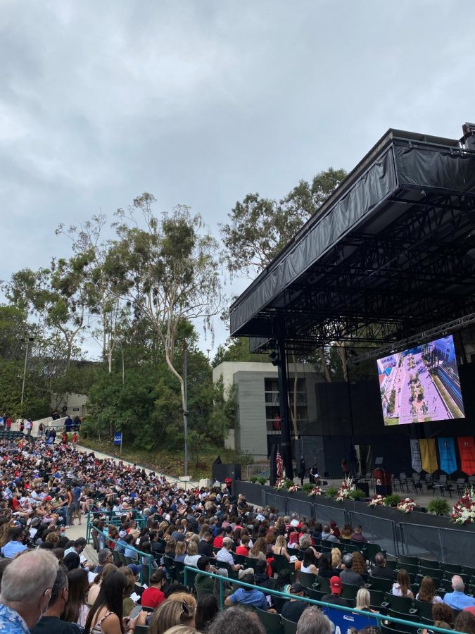 Students and families gather for convocation in Cal Coast Credit Union Open Air Theatre.