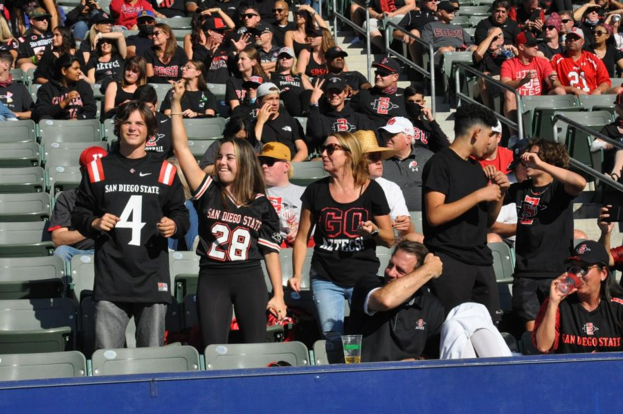 Aztecs fans filled the seats at Dignity Health Sports Park  for the Aztecs matchup against Utah