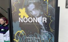 Nooner check-in poster promoting Joaquin Paez.