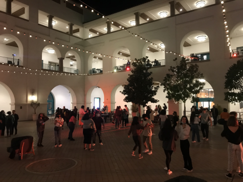 The student union filled with music, lights and dancing.
