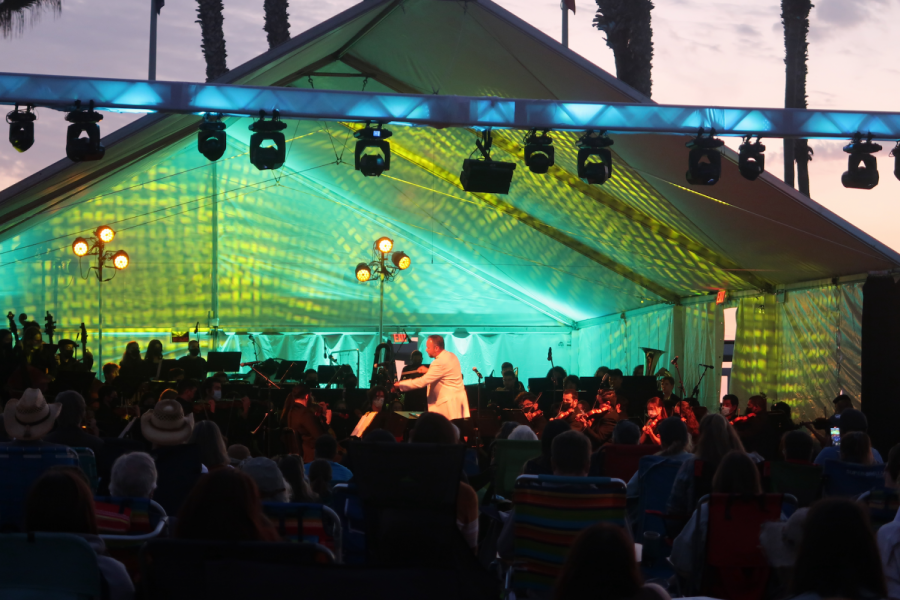The SDSU symphony orchestra performing on Oct. 2.