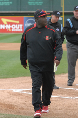 MLB Hall of Famer and San Diego State baseball head coach Tony Gwynn has battled parotid cancer throughout this season, Courtesy of SDSU Media Relations
