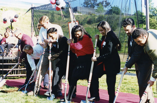 Ground breaking for the SDSU Student Activity Center in 1995