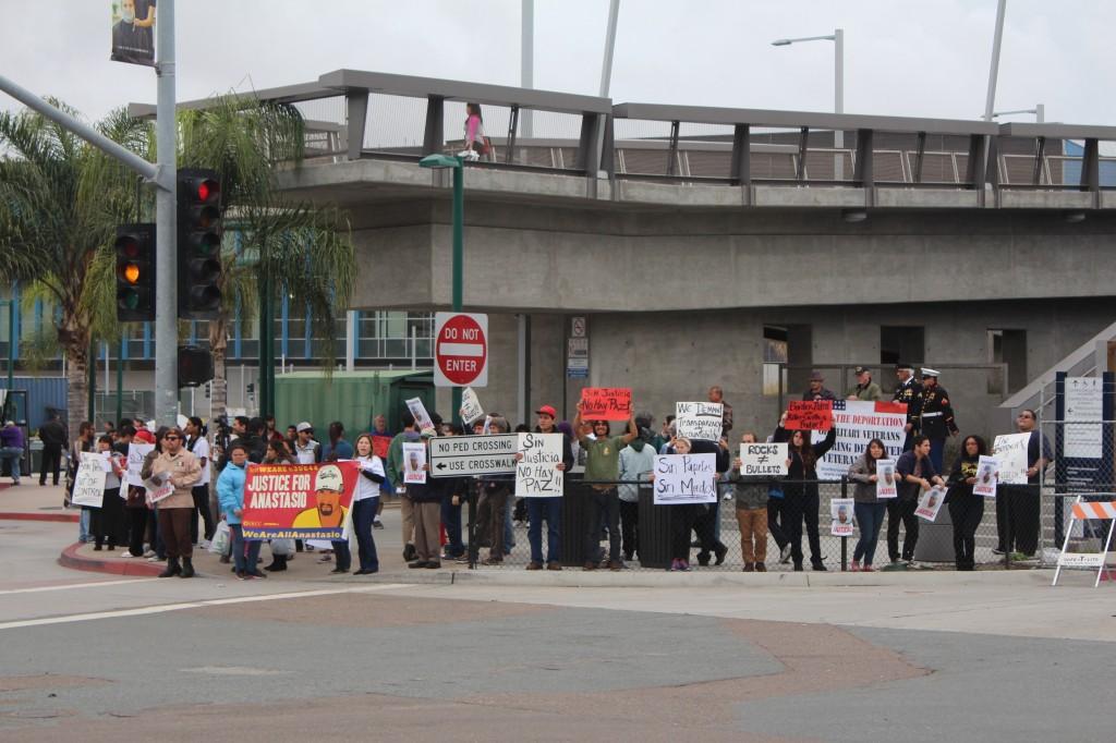 Manifestacion contra la Patrulla Fronteriza