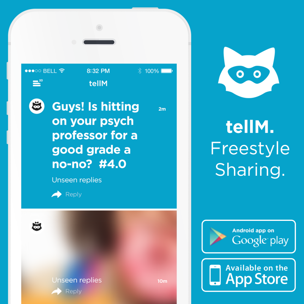 New app allows anonymous sharing