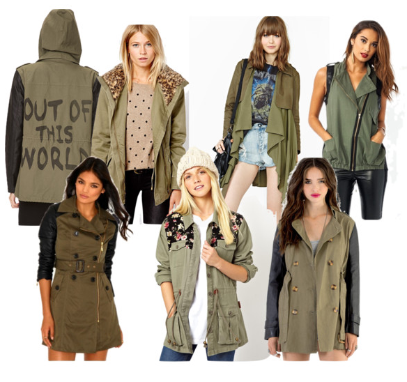 Military-style coats help usher in winter style