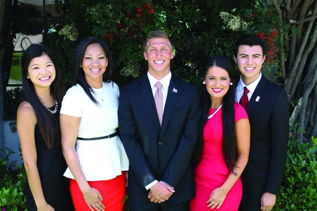 From left to right: Morgan Chan, Mariah Kelly, Josh Morse, Becca Cohen, Javier Gomez