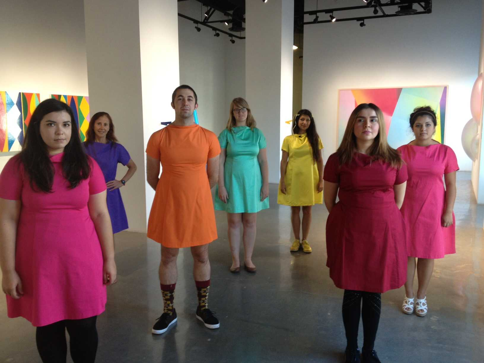 Colorful performance art at Downtown Gallery